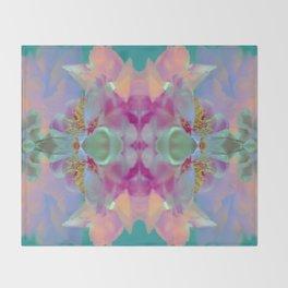 Floral Kaleidoscope Dream Throw Blanket