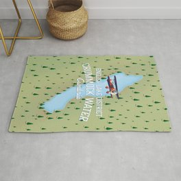Crummock Water, lake district map travel poster Rug