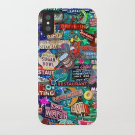 Vintage Neon Signs iPhone Case