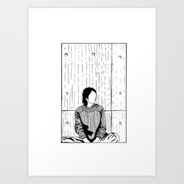 The Girl in a Box - Apprehension Art Print