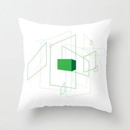 Blueprint #1 (green) Throw Pillow