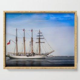 Sail Boston - Chilean Esmeralda. Serving Tray