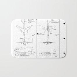 Douglas A3D-2Q Skywarrior Schematic Bath Mat