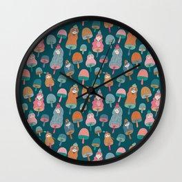 Pattern Project #49 / Mushroom Girls Wall Clock