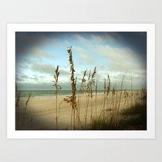 Morning sea oats Art Print