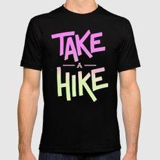 Take A Hike MEDIUM Mens Fitted Tee Black