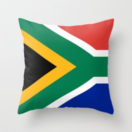 Flag of South Africa, High Quality image Throw Pillow