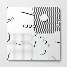 Pale 80s Pattern Metal Print