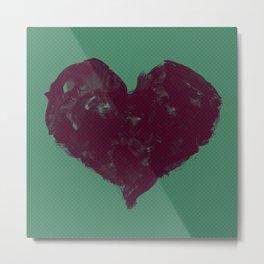 Feel in Watercolour: Red/Teal Metal Print