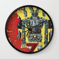 manga Wall Clocks featuring Manga 01 by Zuno
