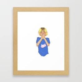 An Embarrassing Smile Framed Art Print