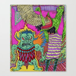 Trollz Ablaze Canvas Print
