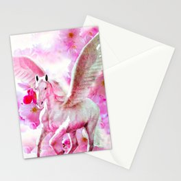 HORSE PINK FANTASY CHERRY BLOSSOMS Stationery Cards