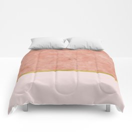 Ettore rosa on blush pink & gold Comforters