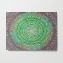 Spiral Deceit Metal Print