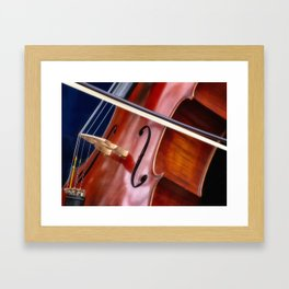 Cello the Bridge and the Bow Framed Art Print