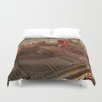 inception Duvet Covers featuring The Junque Room by Lyle Hatch
