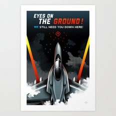 Eyes on the Ground Art Print