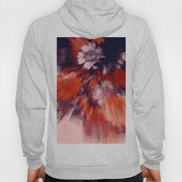 flower burst in orange and bordeaux Hoody
