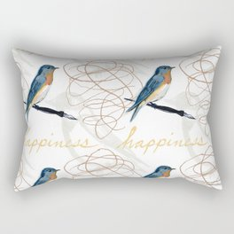 Bluebird of Happiness Rectangular Pillow