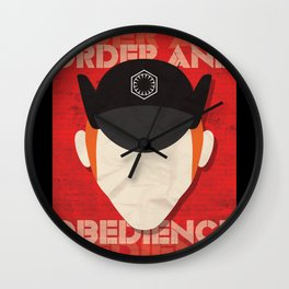 Order and Obedience Wall Clock