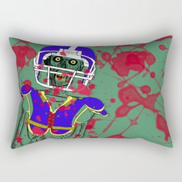 Zombie Football Player Rectangular Pillow