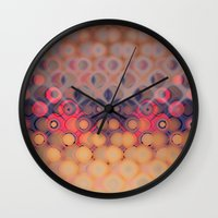 bubbles Wall Clocks featuring Bubbles by PhotoStories