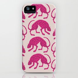 Wild Cats - Pink iPhone Case