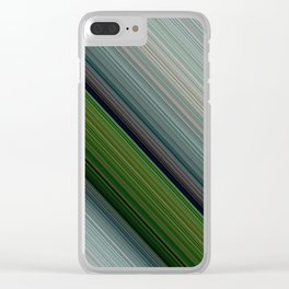 Decorative Colorful Green Blue Lines Design Clear iPhone Case