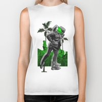 moscow Biker Tanks featuring Moscow Jungles by Tate Bacalao