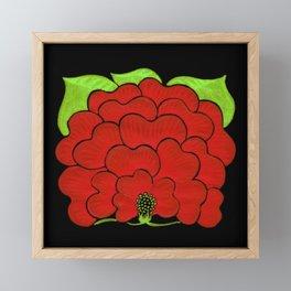 Welcome Flower (on black) Framed Mini Art Print
