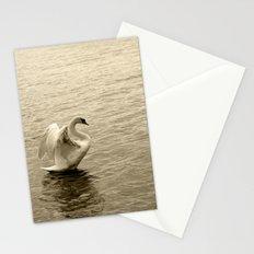 Schwan im Traunsee Stationery Cards