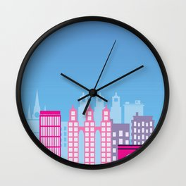 City building silhouette Wall Clock