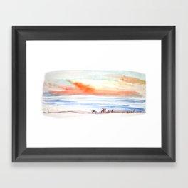 Sunset Sky by the Sea Framed Art Print
