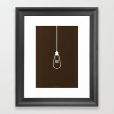 Light Bulb Framed Art Print