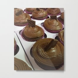 Aztec Chile chocolate cupcakes Metal Print