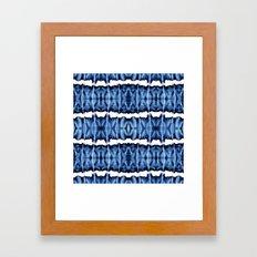 Tie-Dye Shibori Satinete Framed Art Print