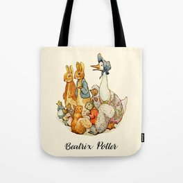 Bedtime Story Animals Tote Bag