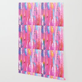 Abstract pink with fish bones Wallpaper