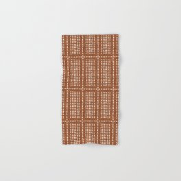 dotty boho geometric - ginger Hand & Bath Towel