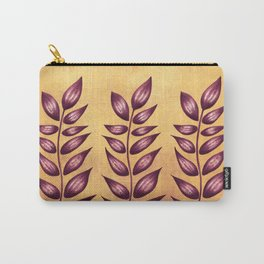 Abstract Plant With Purple Leaves Carry-All Pouch