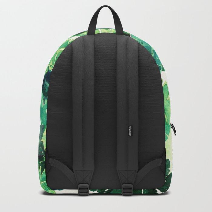 green summer leaves Backpack