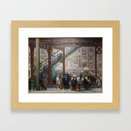 Elevated Columbus Avenue - Gifford Beal Framed Art Print