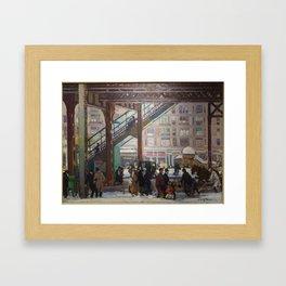 Elevated Columbus Avenue - Gifford Beal Framed Art Print
