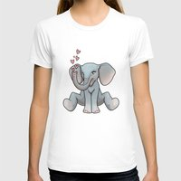 baby elephant T-shirts featuring Baby Elephant by Beryl Kruger