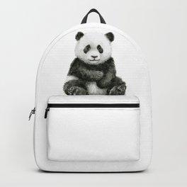 Panda Baby Watercolor Backpack