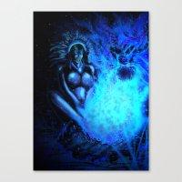 pocahontas Canvas Prints featuring Pocahontas by Brood Studio: Artwork of Jared Hetner