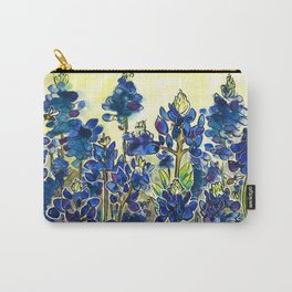 Texas Bluebonnets Watercolor Carry-All Pouch