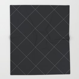 Diagonal Grid Lines Throw Blanket