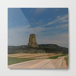 Road To Devils Tower Metal Print